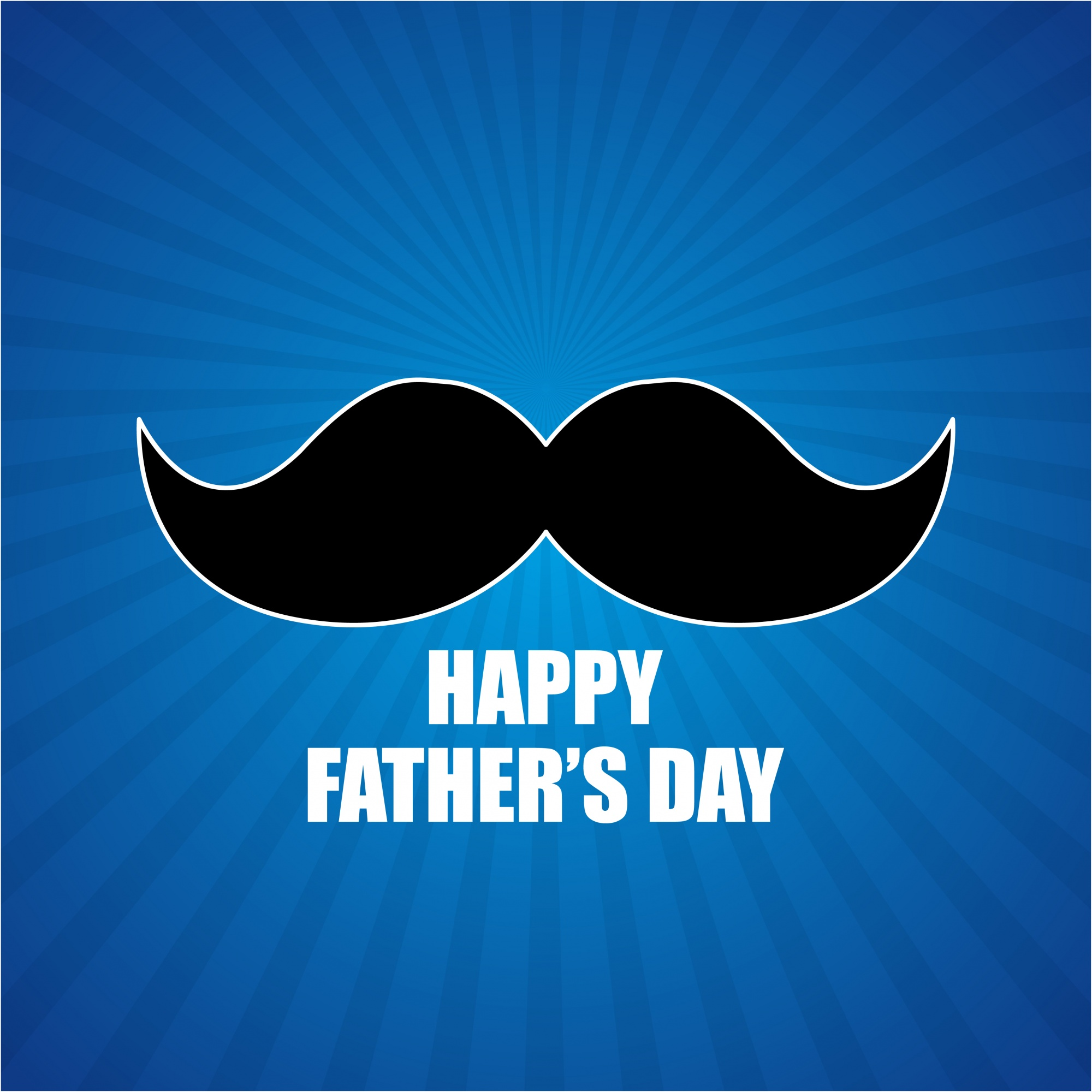 Hipster father's day design with mustache