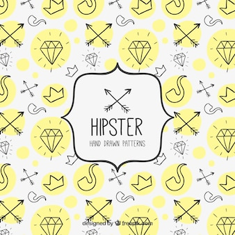 hipster hand drawn pattern