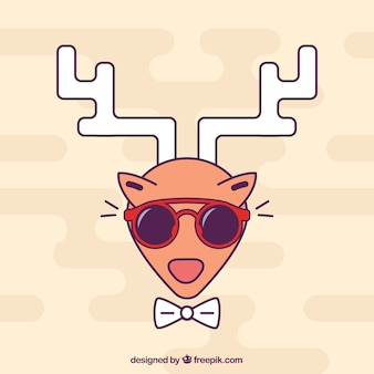 Hipster style deer fashion vector
