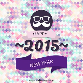 Hipster style New Year card