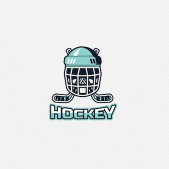Hockey logo on white background