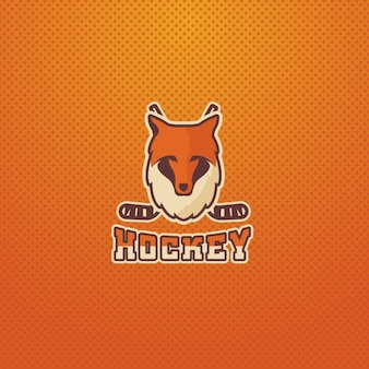 Hockey logo with a fox