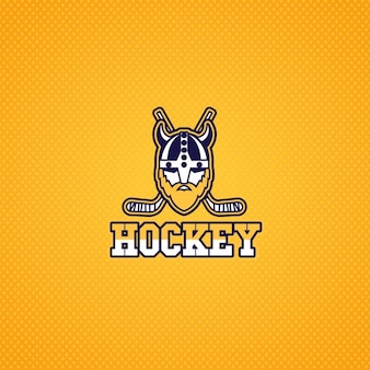 Hockey logo with a viking