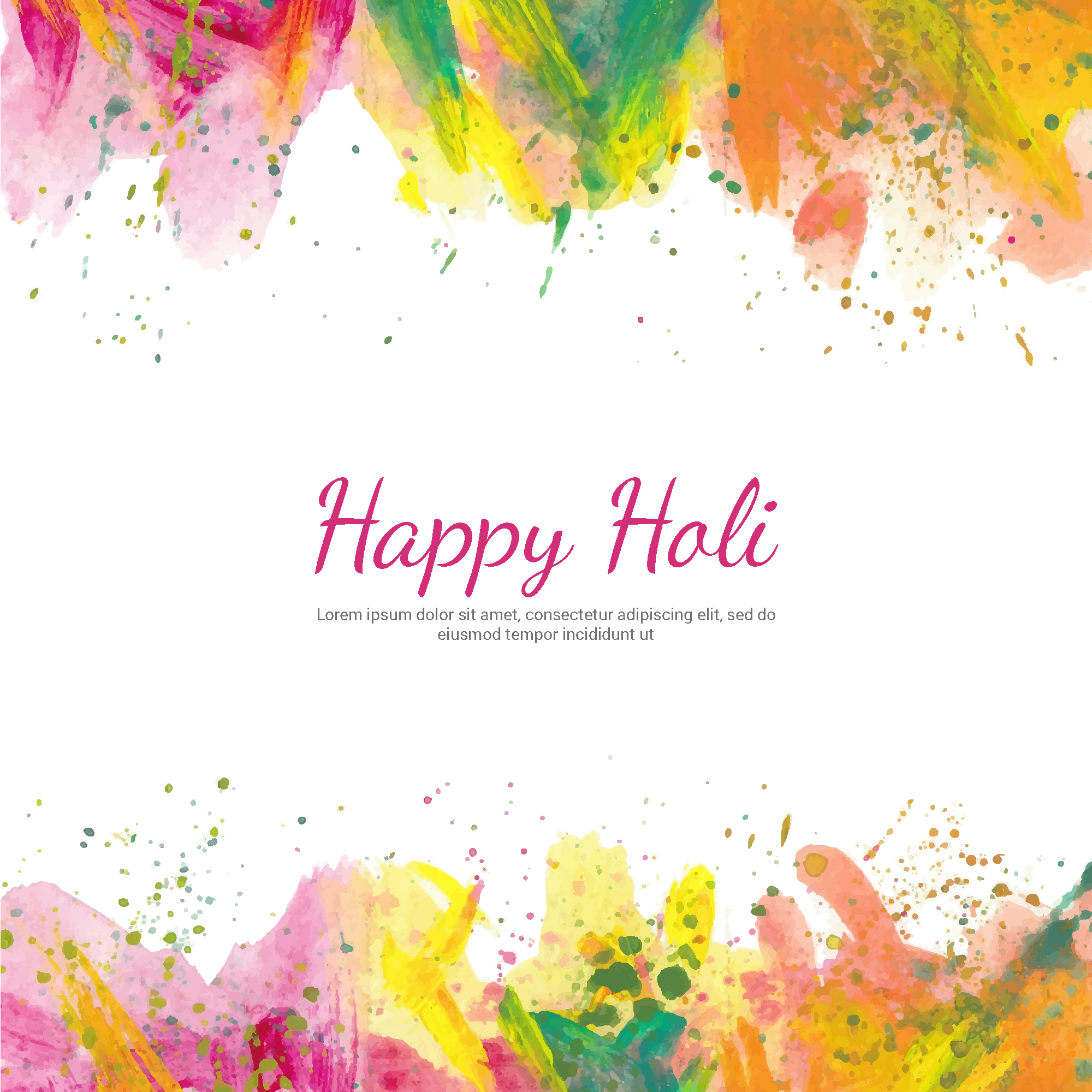 Holi background with watercolors