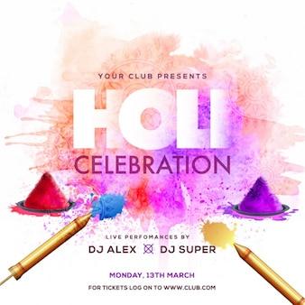 Holi celebration background design