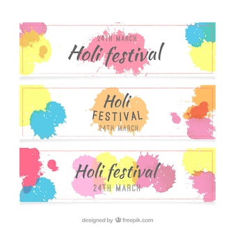 Holi Festival Banner Collection