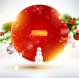 Holiday shine card color red