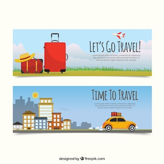 Holiday travel banners