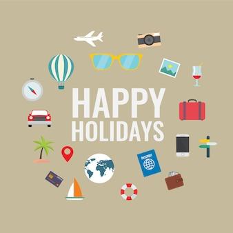 Holidays Flat Elements