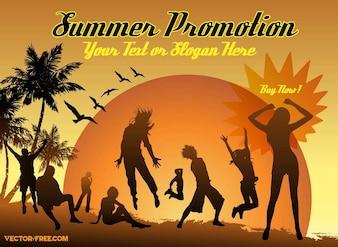 Holidays slogan beach advertisement