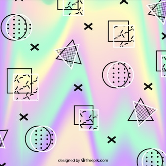 Holographic background of memphis shapes