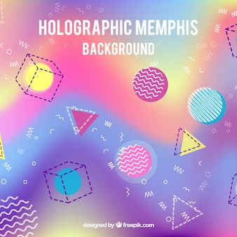 Holographic background with geometric shapes