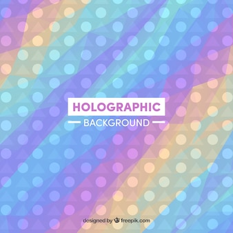 Holographic colored background with circles