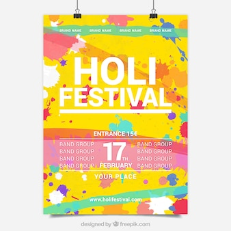 Holy festival colourful poster