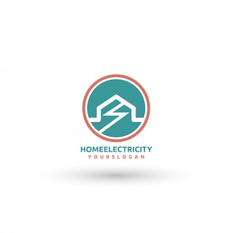 Home Electricity Logo Template
