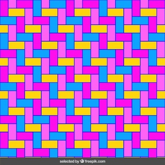 Homogeneous fluor rectangles mosaic