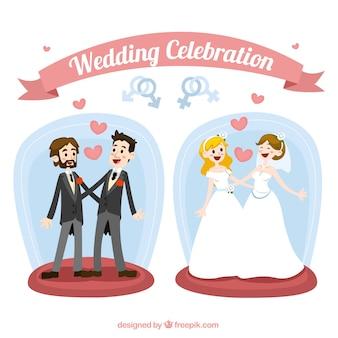 Homosexual wedding celebration