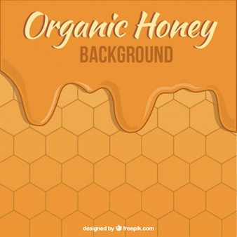 Honey background with hexagons