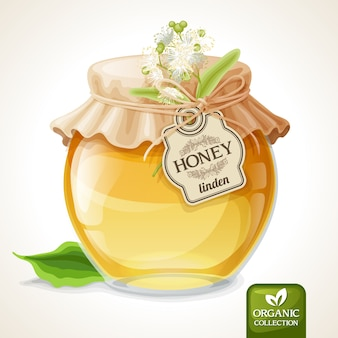 Honey bottle background design
