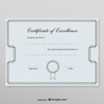 Honorary certificate template
