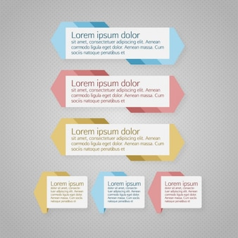 Horizontal infographic template