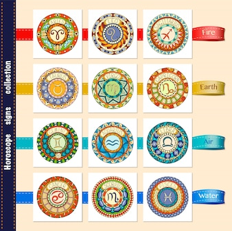 Horoscope signs collection