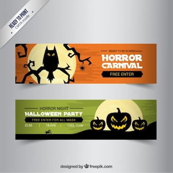 Horror night party banners