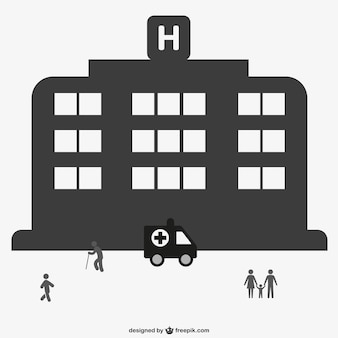 Hospital and ambulance