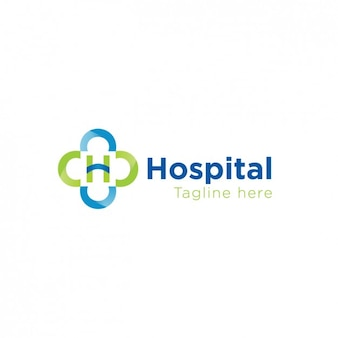 Hospital logo in green and blue