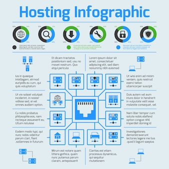 Hosting infographic template