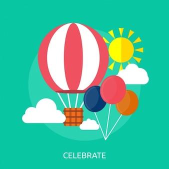 Hot air balloon background design
