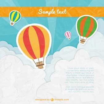 Hot air balloons template