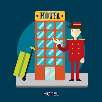 Hotel background design