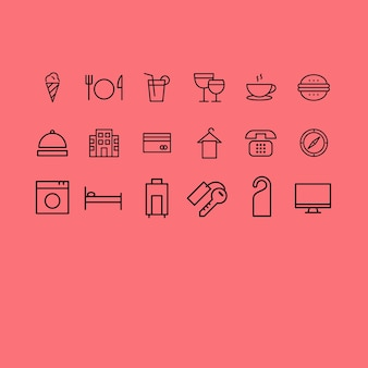 Hotel icons collection