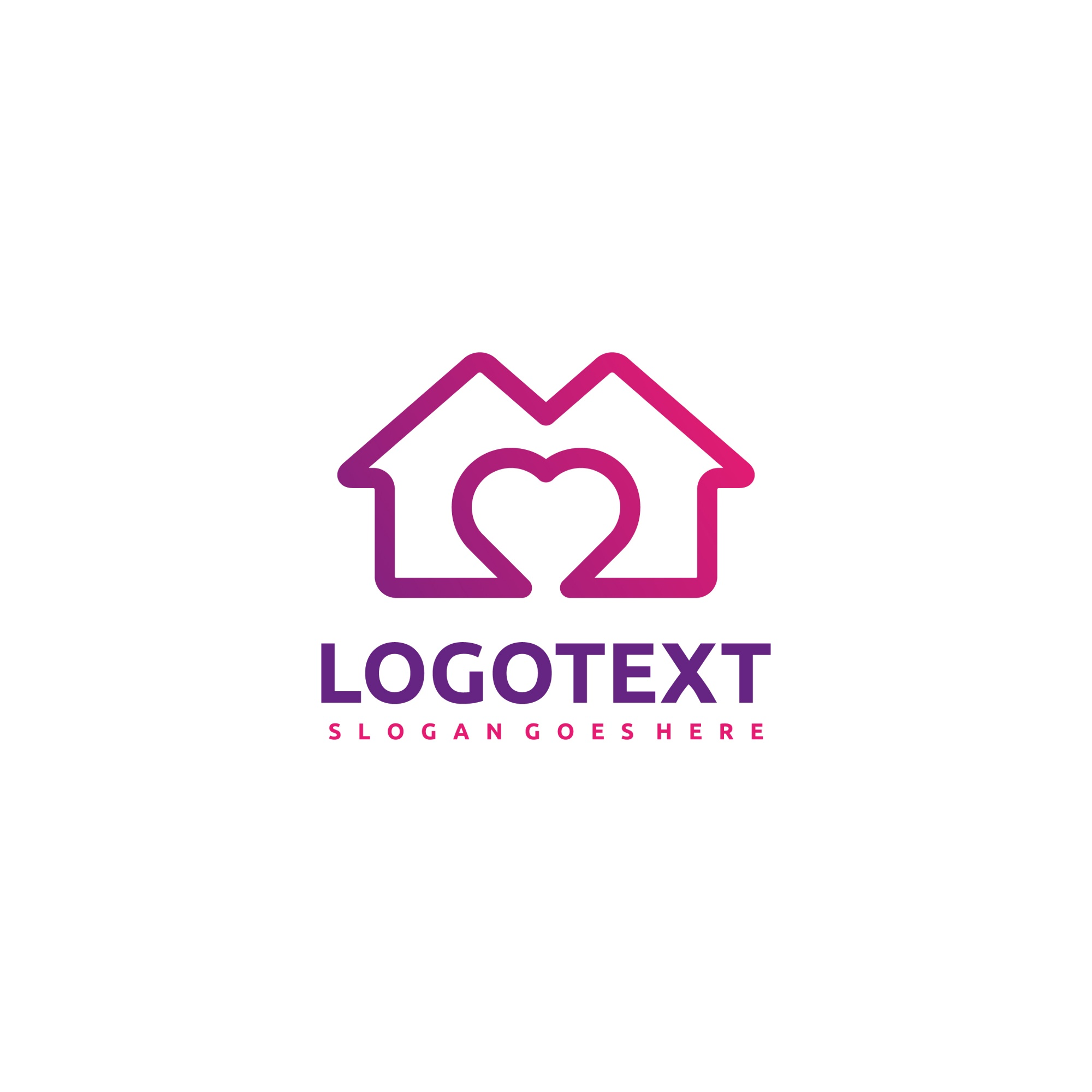 House and love logo