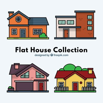 houses of different type collection