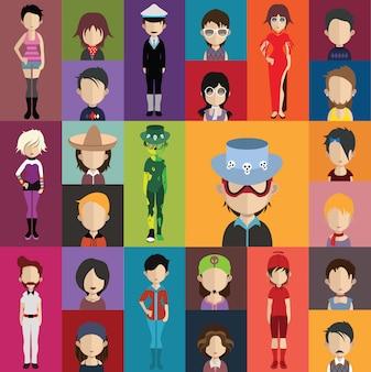 Human avatars collection