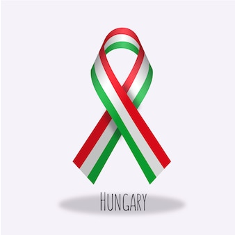Hungary flag ribbon design