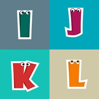 I, j, k, l, funny letters