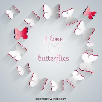 私は蝶を愛し