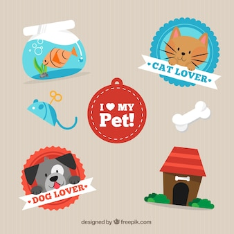 I love my pet labels pack