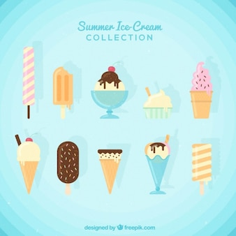 Ice-cream and delicious desserts