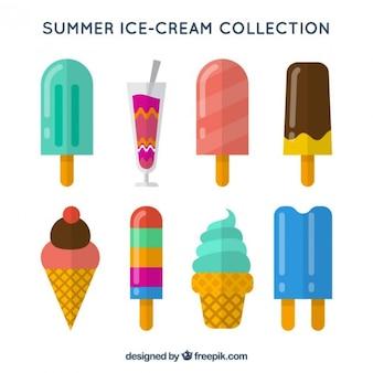 Ice-cream of tastes set in flat design