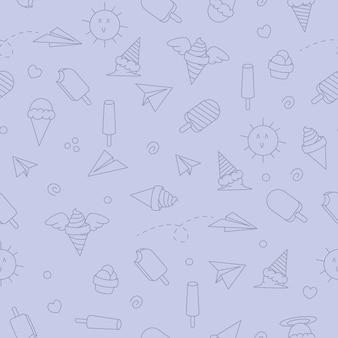 Ice cream pattern background