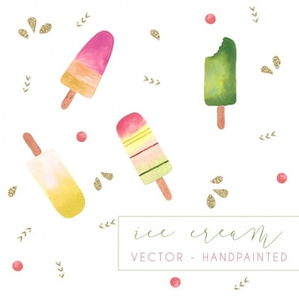 Ice creams background design