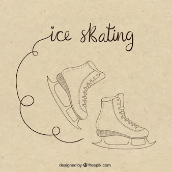 ice skating drawing