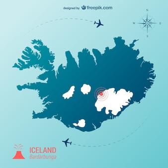 Icelandic volcano vector