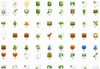icon pack in green tone