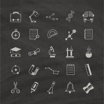 Icons about education, hand drawn
