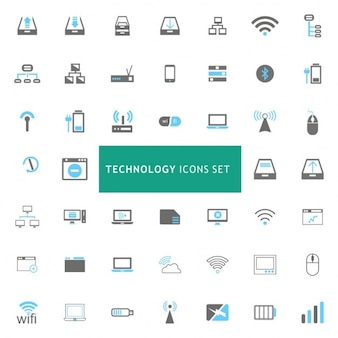 Icons set about different technologies